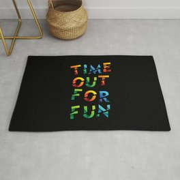 Time out for fun, the perfect outfit to go out with your friends Rug