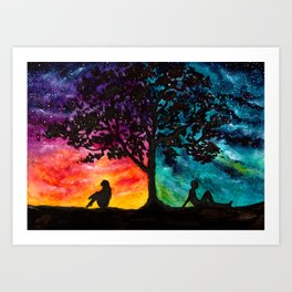 Two Different Worlds Art Print