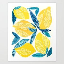 Lemon Tree / Abstract Fruit Art Art Print