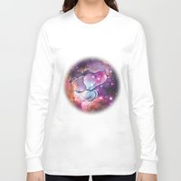 snoopy Long Sleeve T-shirts featuring Space Snoopy by Yildiray Atas
