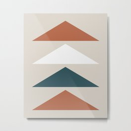 Mid Century Triangles Metal Print