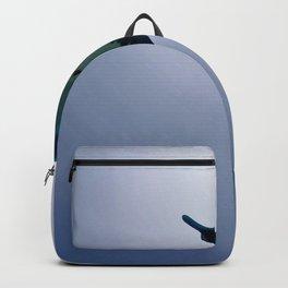 Fascinating Giant Manta Ray Blue Ocean HD Backpack