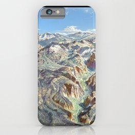 Heinrich Berann - Panoramic Painting of Yosemite National Park with labels (1989) iPhone Case