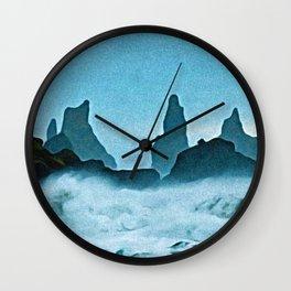 Reynisfjara Post Modern Noise Restless Uncertainty Destiny Waves Wall Clock