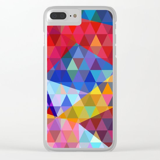 Abstract #268 Clear iPhone Case