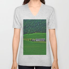 Old farmhouse in Tyrolrmhouse in Tyrol Unisex V-Neck