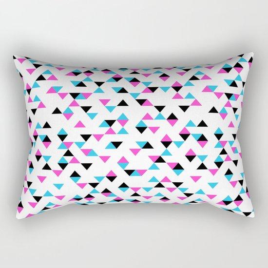 Electric Triangles Rectangular Pillow