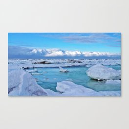 Frozen, and clouds on the Horizon Canvas Print