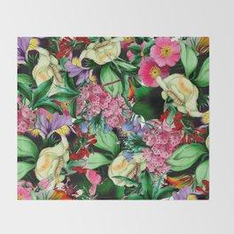 Vintage Floral bouquet Throw Blanket