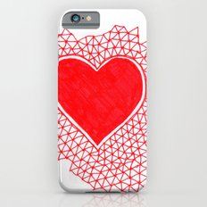 red geometric heart Slim Case iPhone 6s
