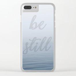 Be Still (Calm Sea) Clear iPhone Case
