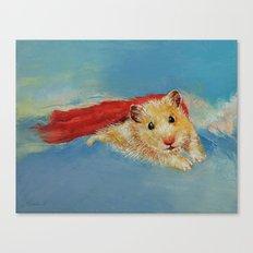 Hamster Superhero Canvas Print