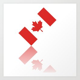 Elegant Maple Leaf Canada Art Print