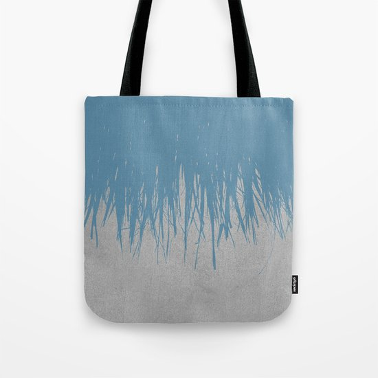 Concrete Fringe Blue Tote Bag