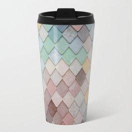 Pastel Rainbow Mermaid Scales Travel Mug