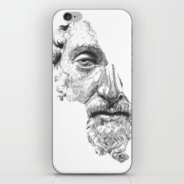 MARCUS AURELIUS ANTONINUS AUGUSTUS / black / white iPhone Skin