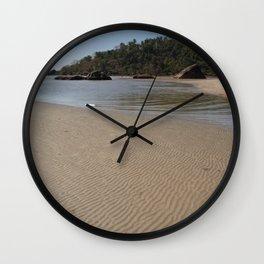 Walking Towards Monkey Island Palolem Wall Clock