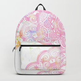 Pastel pink mandala ornament design Backpack