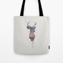 Deer Head V Tote Bag