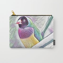 Black Headed Finch In Watercolour Carry-All Pouch