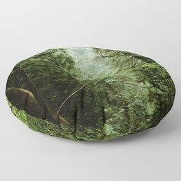 Deep Green Forest Floor Pillow