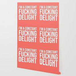 I'm a Constant Fucking Delight (Living Coral) Wallpaper