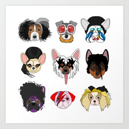 Pop Dogs Art Print