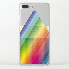 rainbow tringle Clear iPhone Case