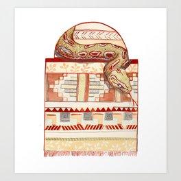 Snake Serape Art Print