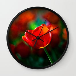 Red tulip - Mystery of blooming Wall Clock