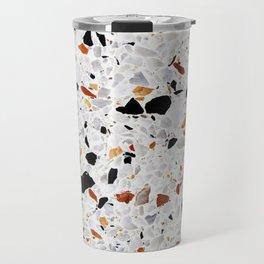 Terrazzo Gray Burnt Orange Travel Mug
