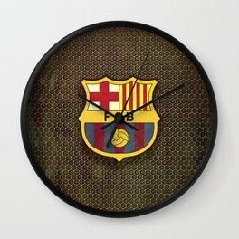 FC Barcelona metal background Wall Clock