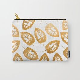 Gold leaf pattern Carry-All Pouch