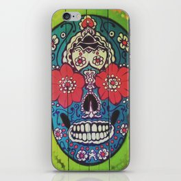 Mexican skull collection iPhone Skin