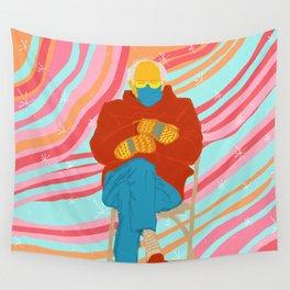Bernie Sanders in pink universe meme Wall Tapestry