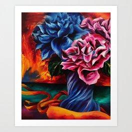 """Flowers"" Painting Art Print"