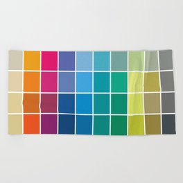 Colorful Soul - All colors together Beach Towel