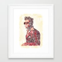 tyler spangler Framed Art Prints featuring Tyler by Fimbis