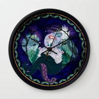 ursula Wall Clocks featuring Ursula by Mazuki Arts