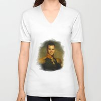 replaceface V-neck T-shirts featuring Matt Damon - replaceface by replaceface