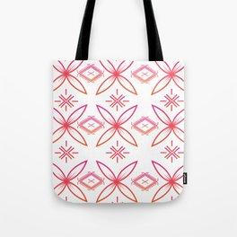 UrbanNesian Pink & Orange Siapo & Malu Design Tote Bag