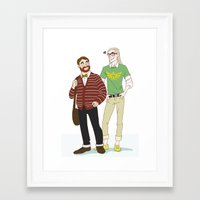 legolas Framed Art Prints featuring Hipster Legolas and Gimli by Nautilus Gifticus