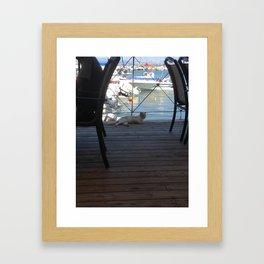 Dat kitteh life Framed Art Print