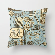 Here to There, Near or Far, This Way or That Throw Pillow