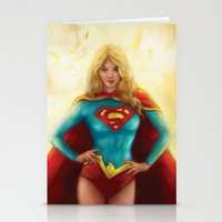 supergirl Stationery Cards featuring Supergirl by SachsIllustration