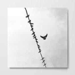 Fly (Black & White) Metal Print