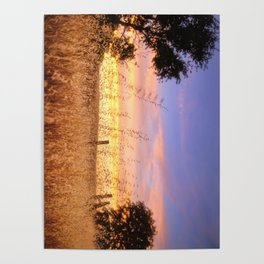 Evening Glow a country sunset Poster