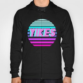"""Vaporwave pattern with palms and words """"yikes"""" #2 Hoody"""