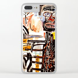 Jean-Michel Basquiat - Philistines 1982 Clear iPhone Case