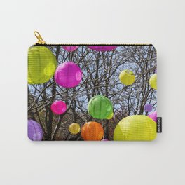 Colorful Lanterns Swinging In The Trees Carry-All Pouch